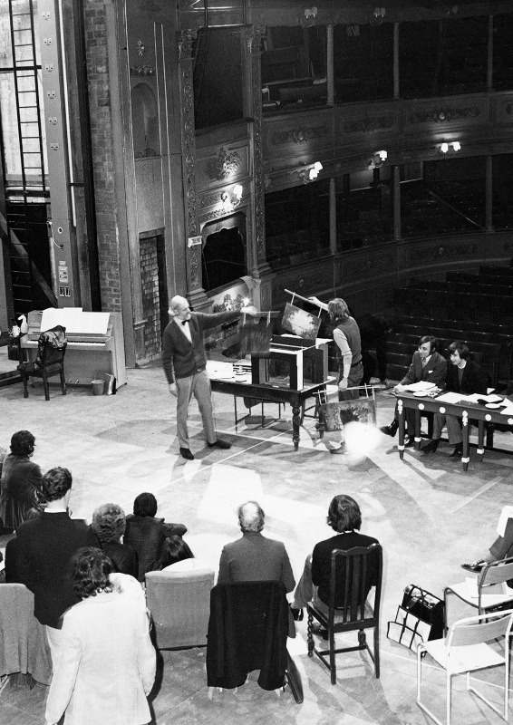 "The Bristol Old Vic Company in rehearsal for the production ""Trelawny"" starring Ian Richardson, 1971"