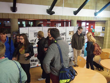 Students enjoy the exhibition