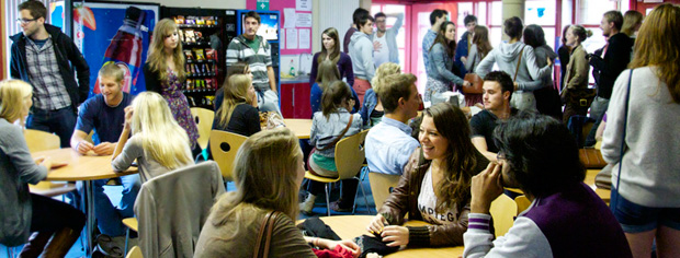 Modern Languages students in the Student Common Room