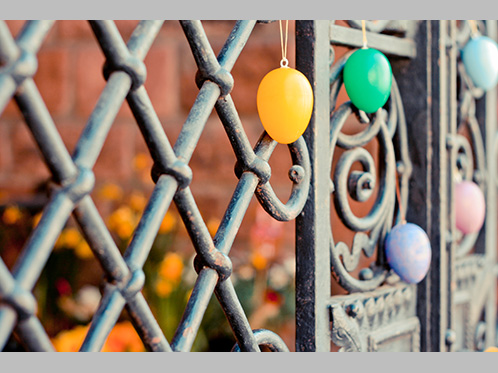 'Rusty iron gate at Easter' by Emma-Victoria Farr