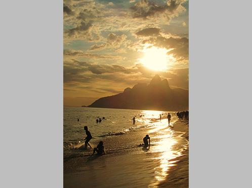 'Sun setting over Dois Irmãos' by Olivia Marke