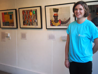 Student volunteer at Year Abroad Photographic Exhibition