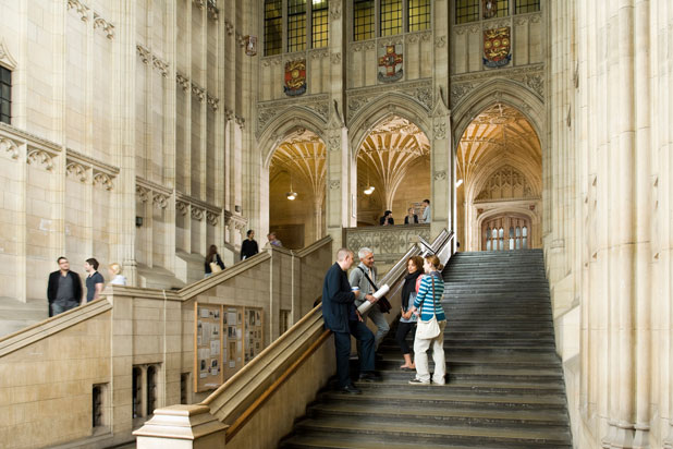 Inside the HH Wills Memorial Building
