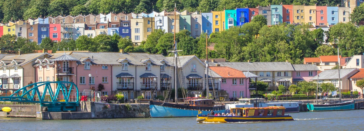 Bristol houses and Harbour