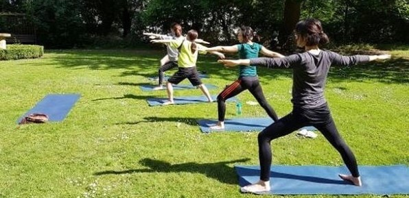 Student Yoga session at Goldney Hall