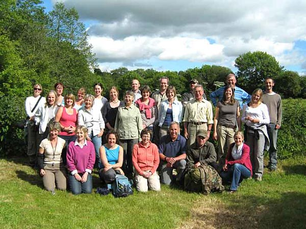 Wildlife Biology students on plant surveying field course in Dorset