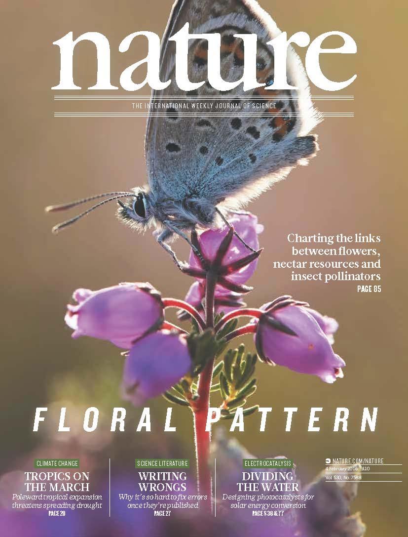 nature magazine biology biological bristol paper sciences february head