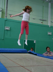 A girl trampolining in the Centre for Sport, Exercise and Health