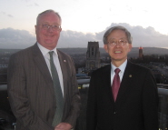 Chonnam National University's President Professor Yoon Soo Kim and Professor Eric Thomas, Vice-Chancellor of the University of Bristol