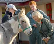 Her Royal Highness The Duchess of Cornwall on a visit to the School of Veterinary Sciences in 2007