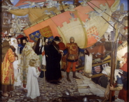 Ernest Board, 'The Departure of John and Sebastian Cabot from Bristol on their First Voyage of Discovery in 1497' (1906)