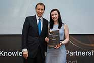 Orla Kelly with MP Matthew Hancock, Minister of State for Skills and Enterprise