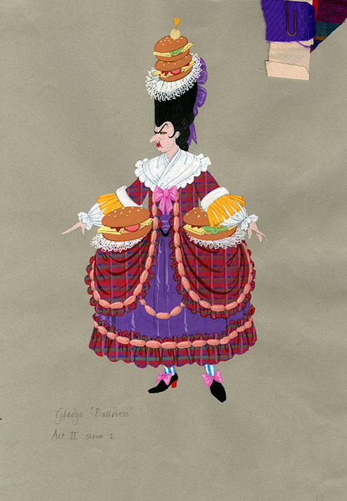 Image of a John Elvery costume design for Cinderella, 1996