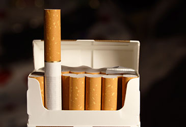 Image of some cigarettes in a plain package