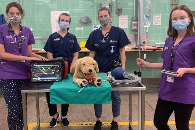 Bristol Vet School students practice emergency response skills with state-of-the-art patient simulator