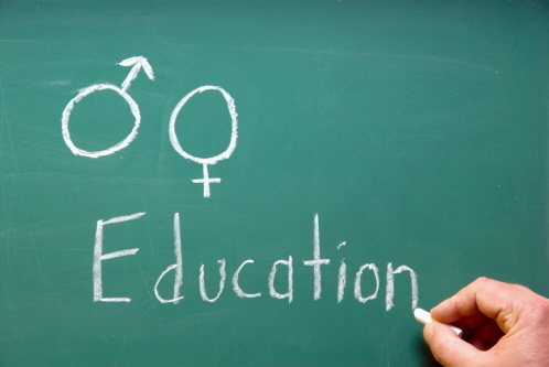 Image of blackboard illustrating sex and relationship education