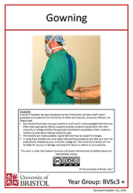 Surgical preparation | Bristol Veterinary School